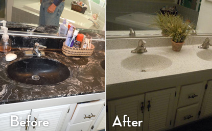 Can You Refinish A Bathroom Countertop Image Of Bathroom And Closet